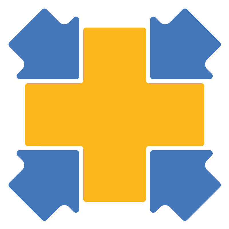 Collective Medicine Icon Cross surrounded by arrows